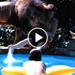 Pet lion attacks its owner